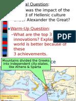 hellenism  alexander the great