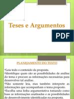 Tema, Tese e Argumento