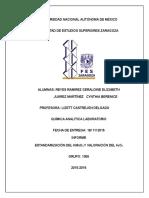 Informe de La Estandarizacion Del Permanganato de Potasio y Vamoracion de Peroxido de Hidrogeno