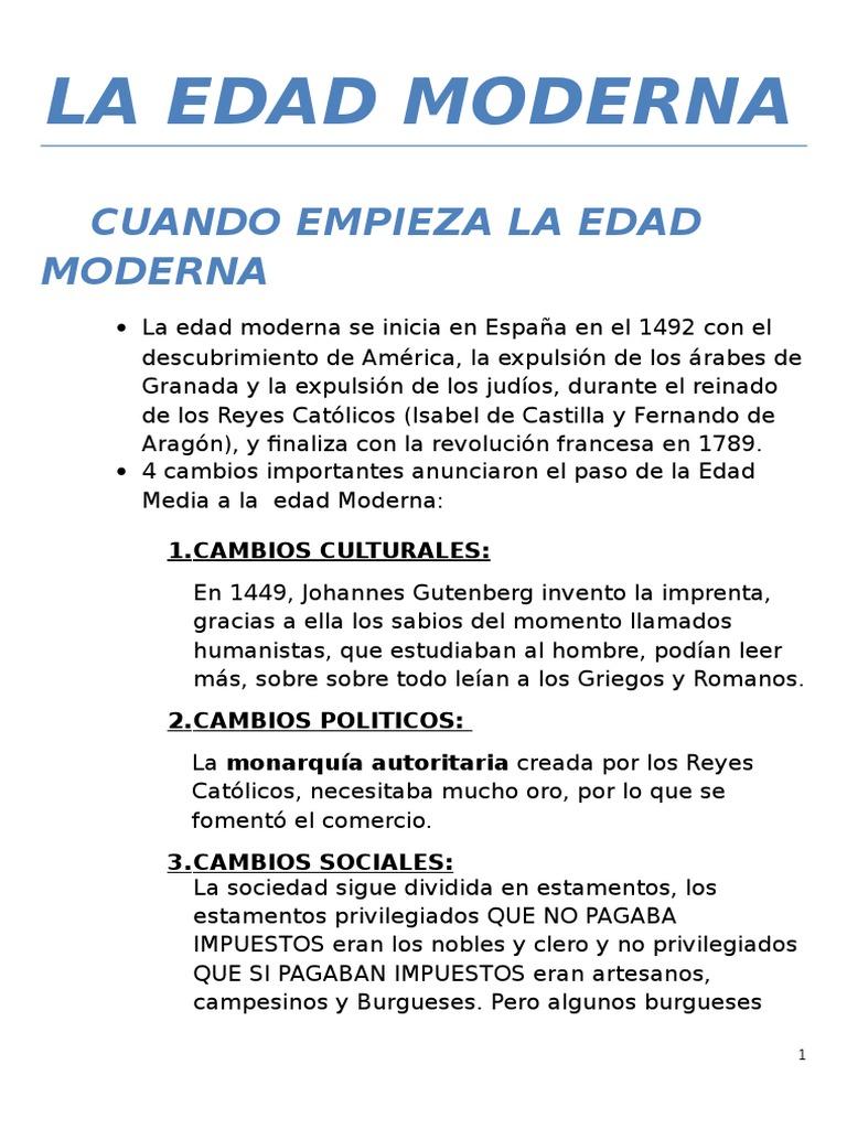 Resumen Tema 3 La Edad Moderna Periodo Moderno Temprano Viajes Por Europa