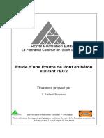 Etude d'une Poutre de Pont en béton suivant l'EC2