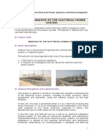 Project 3 - Study of the Electrical Power System