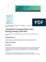 Australian Government Data Centre Strategy Strategy 2010-2025