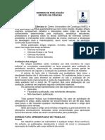 Revista de Ciências - Normas de Publicação - 2013