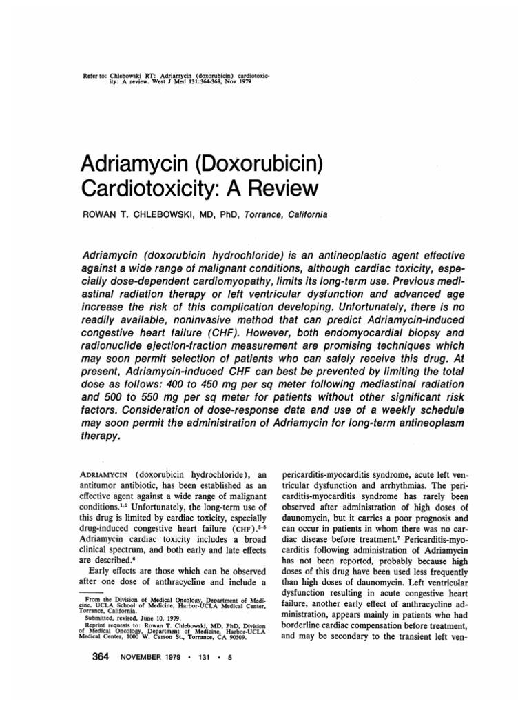 adriamycin pdf   Heart Failure   Cardiovascular System