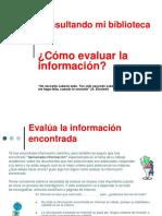 Cómo Evaluar La Información