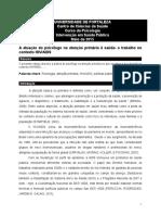 Artigo _ Atuação Do Psi - Interv. Saúde