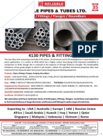 ASTM A519 4130 SEAMLESS PIPE & FITTINGS