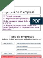 TEMA_2_objetivos de La Empresa