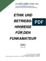 Ethik Und Betriebshinweise Für Den Funkamateur Rev3 3