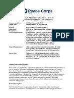 Peace Corps Regional Program Officer (RPO)  VacancyAnnouncement_RPO