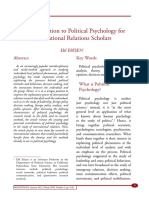 An Introduction to Political Psychology for International Relations Scholars