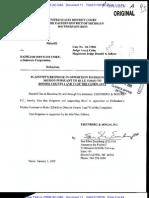 Bazzetta v. Daimler AG - Ps Response to Motion to Dismiss