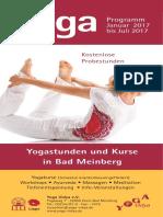 Kursprogramm / Abendkurse Yoga Vidya Bad Meinberg Januar 2017 - Juli 2017