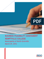Municipality of North Grenville - Business Feasibility Assessment FINAL Apr1