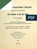 ARF Dashnag Manifesto