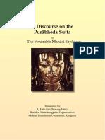710. A Discourse on the Purabheda_Sutta - Mahasi Sayadaw-1961