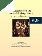 712. Discourse on Anattalakkhana_Sutta - Mahasi Sayadaw-1963