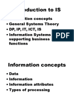 First Lecture - Introduction to Information Systems