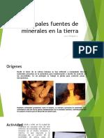 4to Medio Principales Fuentes de Minerales en La Tierra