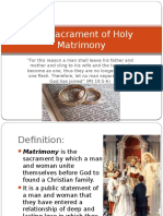 The Sacrament of Holy Matrimony