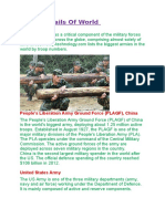 Army Details of World