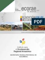 Rendicion de Cuentas Sucumbios 2014