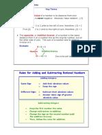 Unit 1 - Rational Number Summary