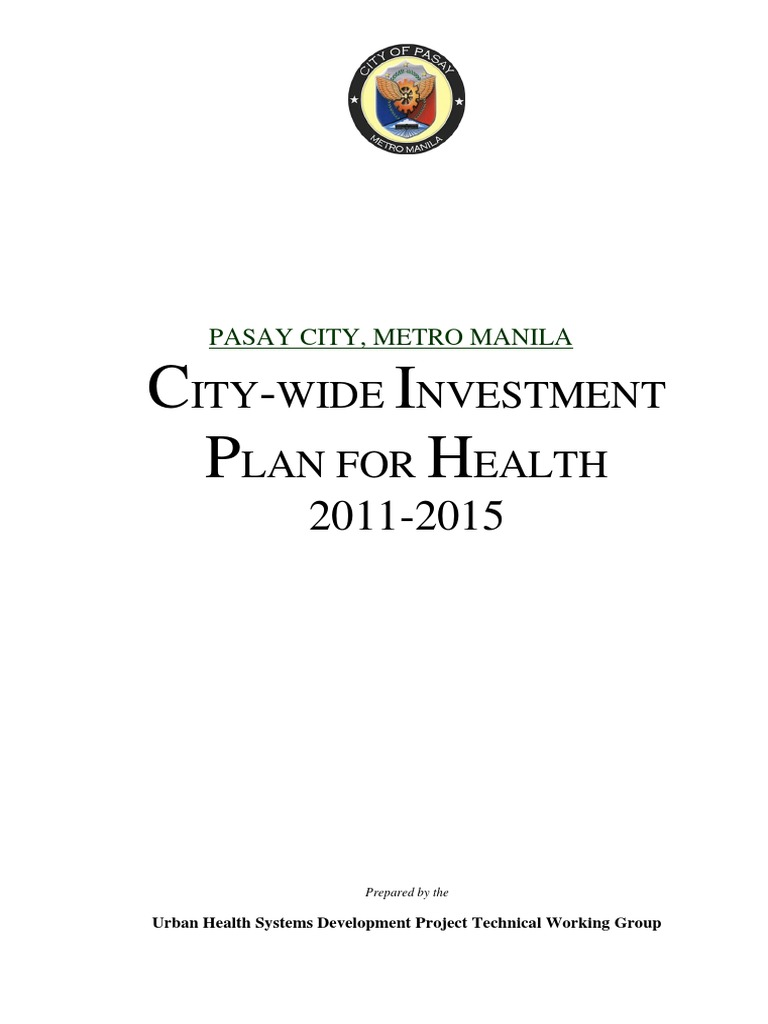City-wide Investment Plan for Health 2010-2015, Pasay City