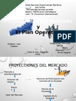 proyecciones del mercado y el plan operativo
