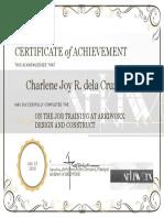 Certificate of Achievement Ojt