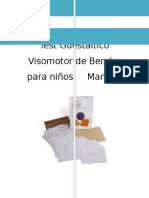 Test Guestáltico Visomotor de Bender - Manual