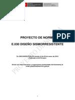 ProyNormaE030DiseñoSismorresistentePeru