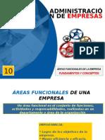 Clases ADE-10-2016-1 AFE Áreas Funcionales de La Empresa