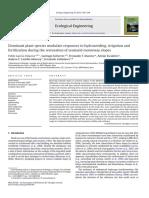 Dominant Plant Species Modulate Responses to Hydroseeding