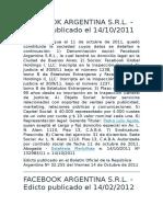 Edicto Facebook