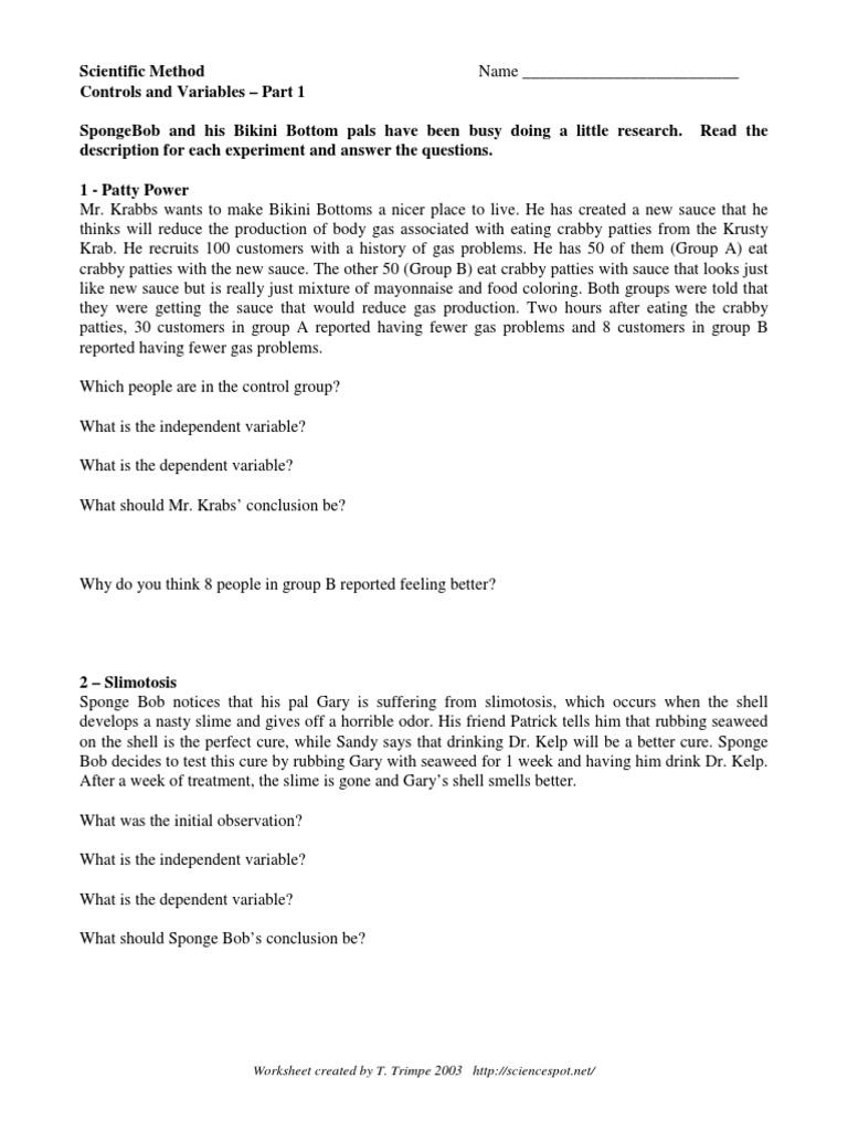 Uncategorized Spongebob Scientific Method Worksheet spongebob scientific method experiment wellness