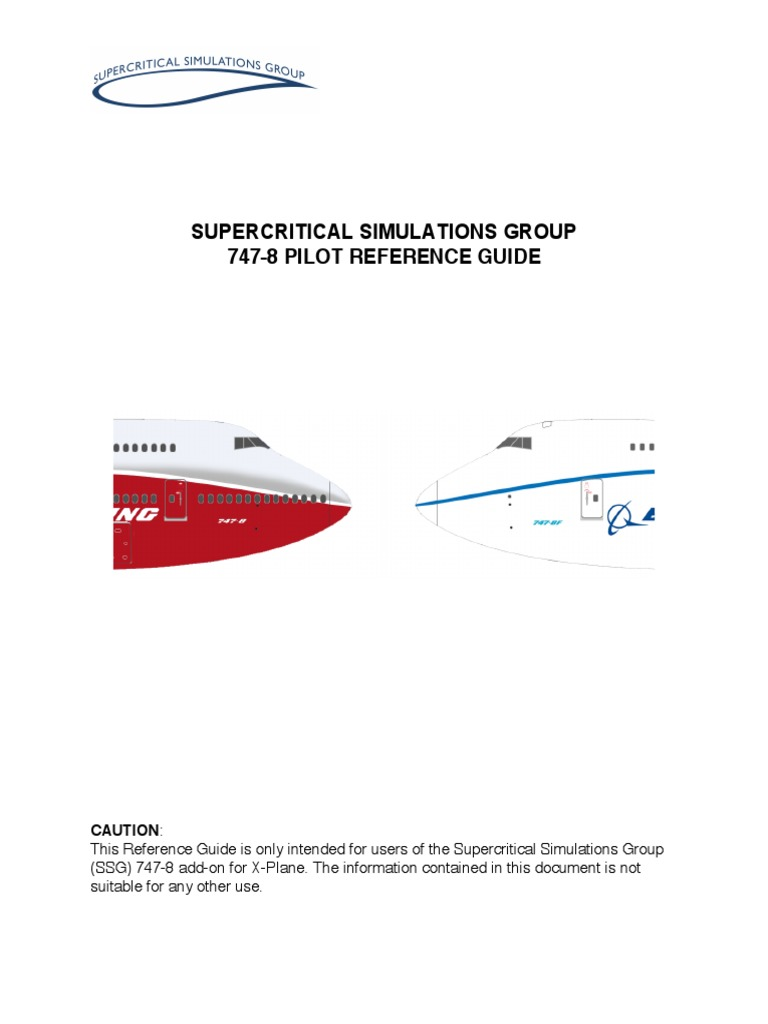 747-8 Pilot Reference Guide 2 0 | Transponder (Aeronautics