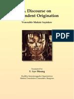 728. Discourse on Dependent Origination - Mahasi Sayadaw
