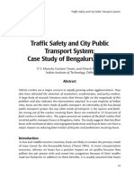 Traffic Safety and City Public Transport System- Case Study of Be