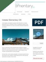 Instalar Elementary OS - Zona Elementary OS
