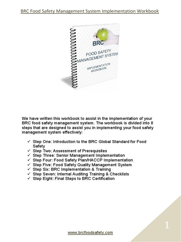 BRC Implementation Workbook Sample pdf | Hazard Analysis And