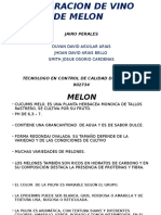 Elaboracion de Vino de Melon