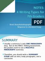 4 Writing Types