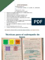 Técnicas Para El Subrayado de Leyes.