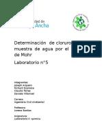 Determinación de Cloruro en Una Muestra de Agua Por El Método de Mohr I