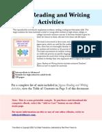 Jigsaw Reading & Writing Activities