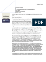 Letter of Solidarity In Support of HR 1557 --Federal Employee Ant-discrimination Act (Reissued 9/30/2016)