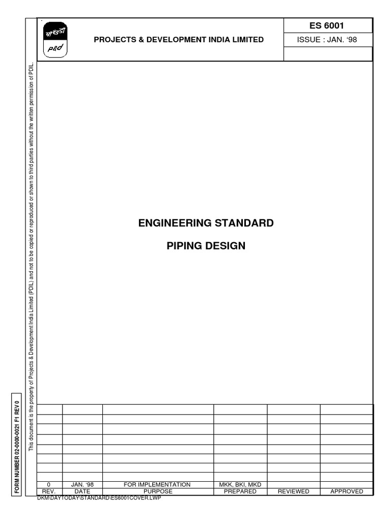Piping Design Std Pdil 138 Pipe Fluid Conveyance Valve Layout Best Practices