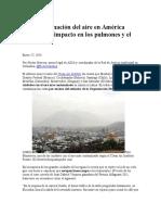 La Contaminación Del Aire en América Latina y Su Impacto en Los Pulmones y El Clima
